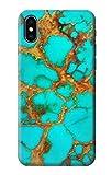 copper gems - R2688 Aqua Copper Turquoise Gemstone Graphic Printed Case Cover For IPHONE X