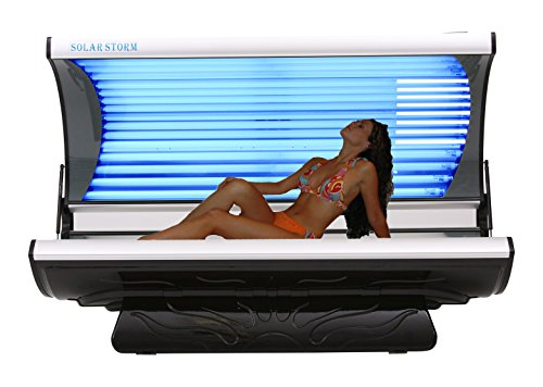 Solar Storm 32 Lamp Residential Tanning Bed, Black