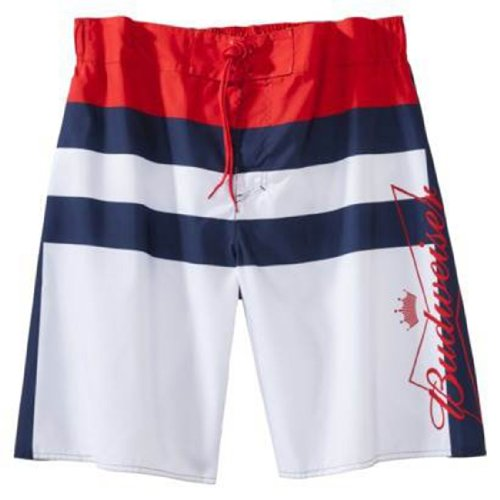 Bud Light Nautical Striped Board Shorts | S