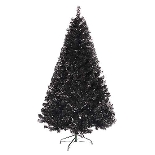 DULPLAY PVC Black Artificial Christmas Tree, Xmas Pine Tree Solid Metal Legs Christmas Party Home Decoration Holiday -150CM