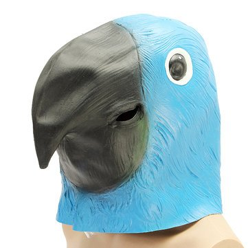 Chief Confront Cloak - Parrot Bird Mask Creepy Animal Halloween Costume Theater Prop Party Deluxe Latex Anima - Steer Typeface Head Mind Aspect Arch Human Strait Teacher Look Word - 1PCs -