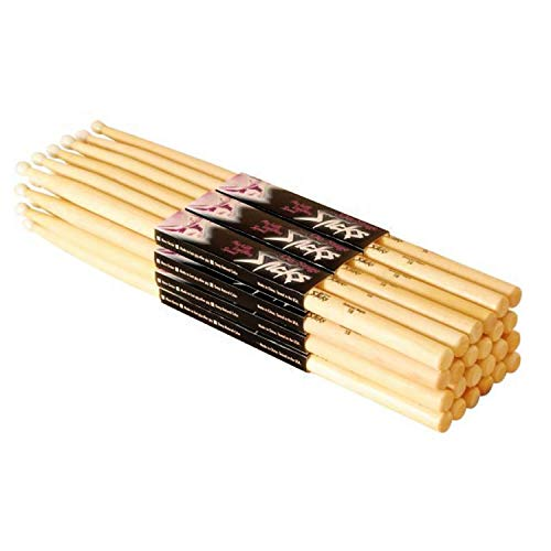 On Stage 7A Maple Drum Sticks - (12 Pack) (Wood Tip, 12 Pak)