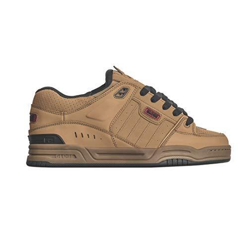 Globe Men's Fusion Skate Shoe, Tobacco Brown/Gum, 9