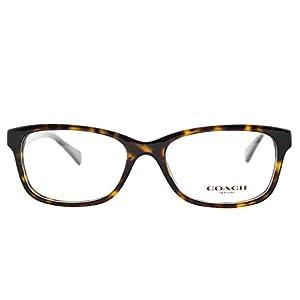 Coach HC 6089 5120 Dark Tortoise Plastic Rectangle Eyeglasses 49mm