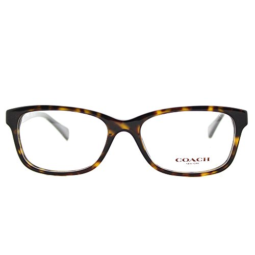 Coach HC 6089 5120 Dark Tortoise Plastic Rectangle Eyeglasses 49mm