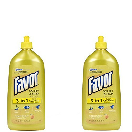 Favor 3-in-1 Floor Cleaner (Citrus Scent-27 Ounces, 2 Pack)