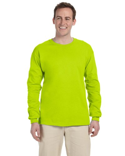 Gildan 2400 - Classic Fit Adult Long Sleeve T-shirt Ultra Cotton - First Quality - Safety Green - Large