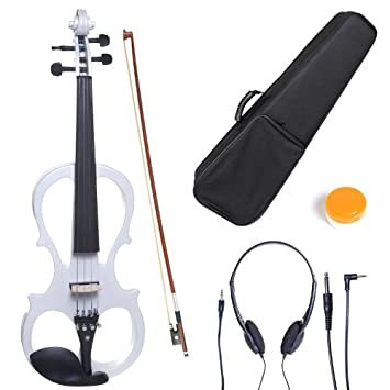 Cecilio CEVN-1BK Ebony Fitted Silent Electric Left-Handed Violin, Style 1, Metallic Black, Size 3/4 L3/4CEVN-L1BK