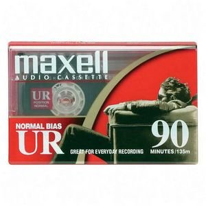 Maxell UR90/100 90-Minute Blank Audiocassette Tape, Normal Bias (Master case of 100) by Maxell