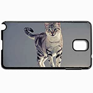 Customized Cellphone Case Back Cover For Samsung Galaxy Note 3, Protective Hardshell Case Personalized Cat Tabby Stand Black