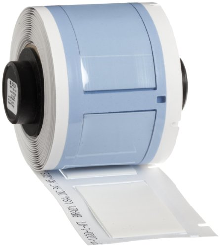 Brady PSPT-1000-1-WT TLS 2200 And TLS PC Link PermaSleeve 1.66'' Height, 1.015'' Width, B-342 Heat-Shrink Polyolefin White Color Wire Marker Sleeves (50 Per Roll) by Brady