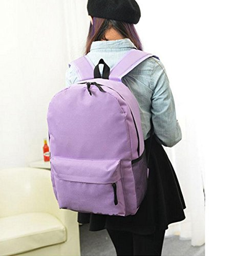 Backpack Zhuhaixmy Canvas Taro creamy Style Bag white Color School Leisure Girls FTeenage Travel Solid Tw0qAHw