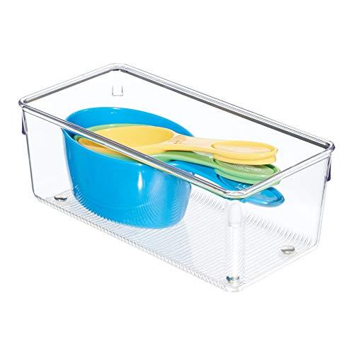 InterDesign Linus Organizador de cajones, cubertero para cajones de cocina mediano en plástico para guardar cubiertos y...
