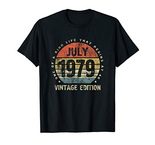 Born In July 1979 Shirt Vintage Edition 40th Birthday Gift T-Shirt