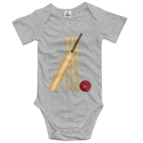 Baby Climbing Clothes Set Cricket Bodysuits Romper Short Sleeved Light Onesies Gray