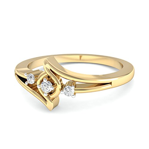 PC Jeweller The Aurela 18KT Yellow Gold   Diamond Rings