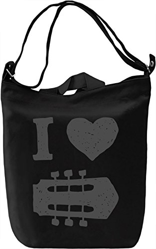 I heart music Borsa Giornaliera Canvas Canvas Day Bag| 100% Premium Cotton Canvas| DTG Printing|