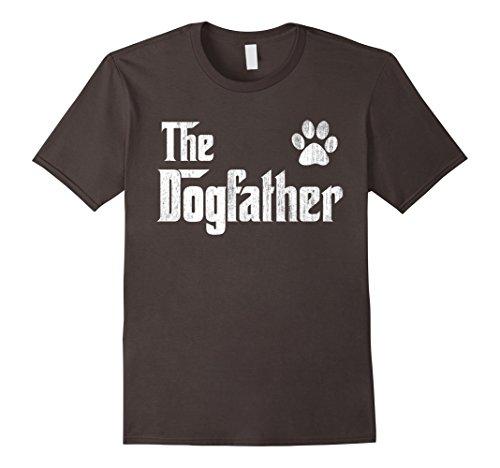 Mens The Dogfather Shirt Dog Dad Fathers Day Dog Lover Gift Shirt Large Asphalt