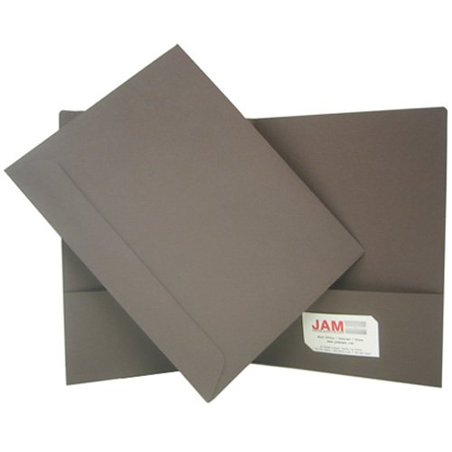Chocolate Brown 100% Recycled Two Pocket Presentation Folder - Box of 100