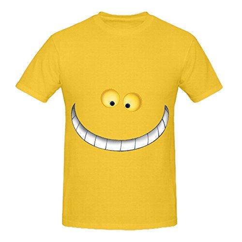cheshire-cat-style-mens-crew-neck-diy-t-shirt-yellow