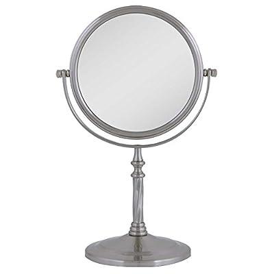 Zadro VAN45 Two-Sided Vanity Swivel Mirror, Satin Nickel, 1X-5X