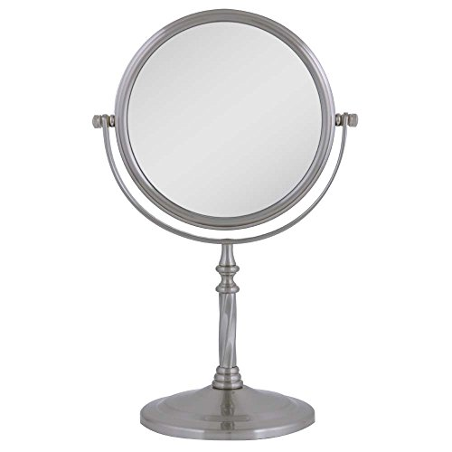 Zadro Two-Sided Vanity Swivel Mirror, Satin Nickel