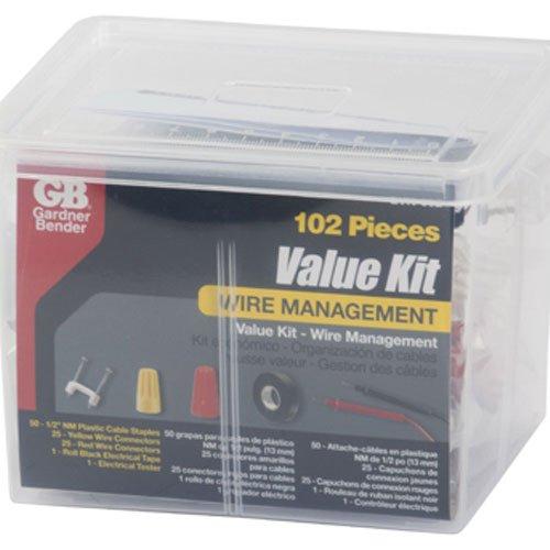 Gardner Bender EVK-002 Electrical Project Value Kit, Tester, Staples & Tape in Reusable Organizing Container by Gardner Bender