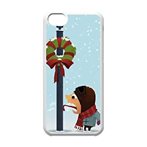 iPhone 5c Cell Phone Case White Funny Christmas Meynh