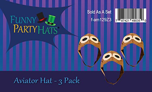 1ad8b53d Funny Party Hats Classic Avaitor Hat-Pilot Aviator Cap-Vintage WWII Hat  Funy Party