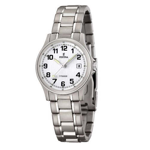 Amazon.com: Festina Classic Titanium Casual Womens watch Titanium Case: Watches