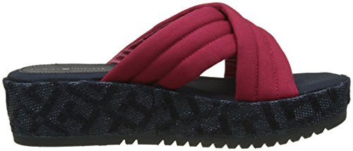 Tommy Scooter Pattern Rouge Red Flatform Hilfiger Th Femme 614 Espadrilles Uxfng74qUw