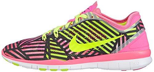 Nike Womens Free 5.0 Tr Passe 5 Prt Trening Sko Kvinner Oss Rosa Pow / Volt-svart
