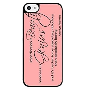diy zhengSeason.C Marilyn Monroe Quotes Imperfect Hard Back Case Cover for iphone 5c