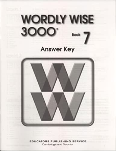 Wordly wise 3000 book 7 answer key wendy drexler elissa gershowitz wordly wise 3000 book 7 answer key answer key edition fandeluxe Choice Image