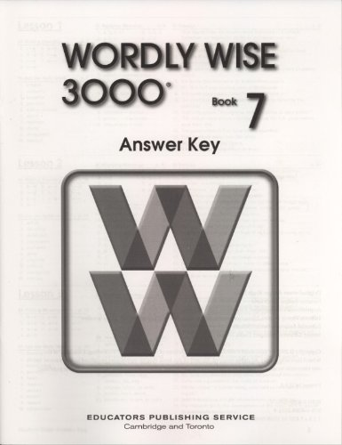 Wordly Wise 3000 Book 7 Answer Key