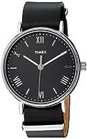 Timex Men's TW2R28600 Southview 41 Black/Silver-Tone Leather Strap Watch