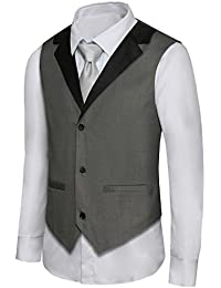 Men's Formal Vest Casual Waistcoat Dress Vests Jackets VS05