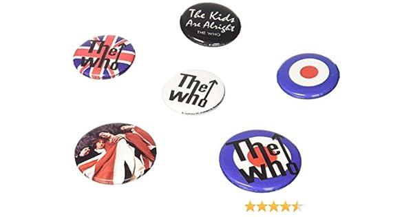 Unbekannt GB Eye LTD, The Who, Lyrics y Logos, Pack de Chapas: Amazon.es: Hogar