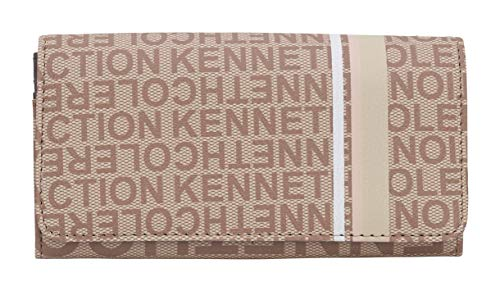 Kenneth Cole Reaction Women's Bold Print Organizer Clutch Wallet w/Removable Coin Purse (LT Stone Print)