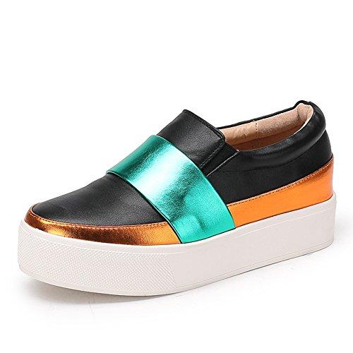 La caída de zapatos de suela gruesa plataforma/Zapatos de mujer/escoge los zapatos/Mujer tacones/Zapato del plano/Calzado Lazy A