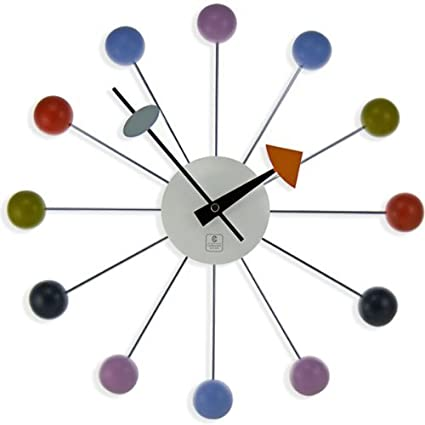 Metal Madera Ball Clock Retro 1960S, ...