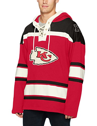 NFL Kansas City Chiefs Men's Ots Lacer Pullover Hood, Small, Red