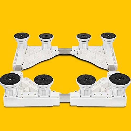 Washing Machine Base, Automatic Heightening Heightening Universal Caster Stand, for Dryer, Washing Machine and Refrigerator Stand,White