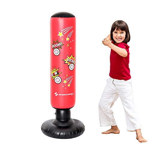 Sportcraft SODB-178 Electronic Inflatable Punching Bag, Free Standing Boxing Toy for Kids. with Sound and Light -