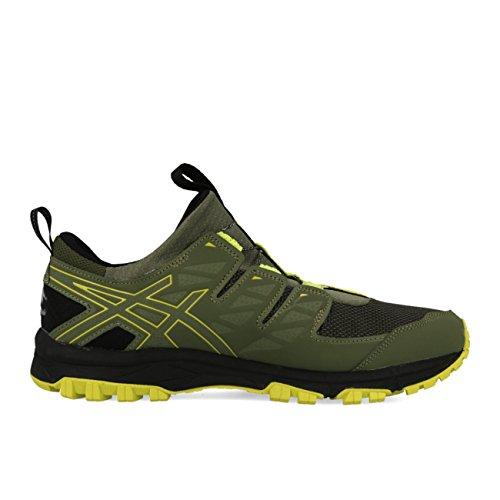 Asics–Gel de fujirado Hombre para correr (verde/negro)