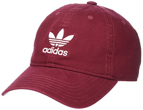 adidas Women's Originals Relaxed Strapback Cap, Collegiate Burgundy/White, One Size