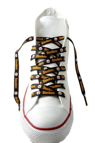 NFL Pittsburgh Steelers Black 54-Inch LaceUps cordones de zapatos 4kT7teh1iT