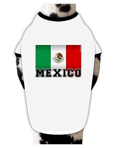 tooloud-mexico-flag-dog-shirt-white-with-black-xl