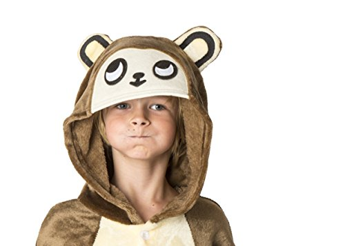 [Ultra Soft Unisex, Boys, Girls Pajamas Kigurumi Costume for Kids (Medium, Monkey)] (Little Girl Monkey Costume)