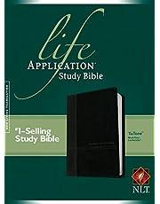 NLT Life Application Study Bible, Second Edition, TuTone (Red Letter, LeatherLike, Black/Onyx)